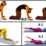 4 – отведение ноги в сторону, 5 – Кошечка, 6 – неподвижная и динамическая Лодочки