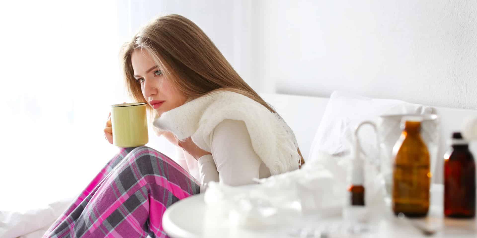 Если боль в горле сопровождается высокой температурой