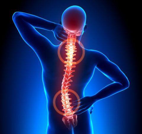 Боли в спине из-за остеохондроза