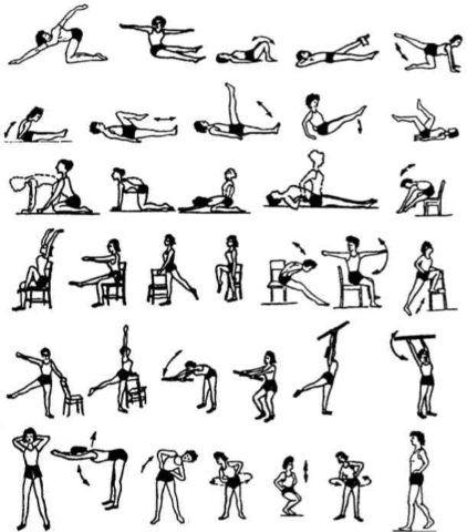 Больному назначается комплекс гимнастических упражнений