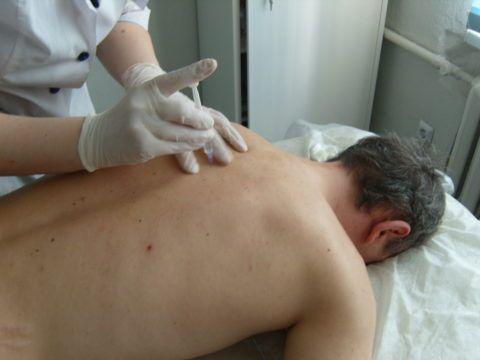 Для облегчения боли проводятся новокаиновые блокады