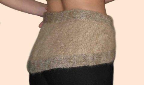 Для уменьшения боли можно укутать пораженное место шерстяным платком или шалью.