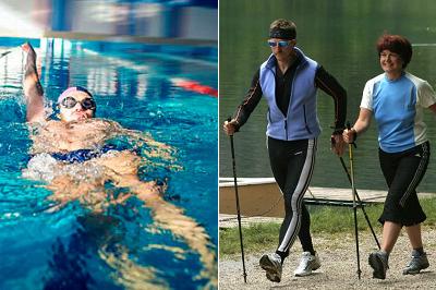 Дозированная плавание и ходьба