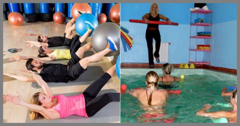 Фитбол- и аква-группы для занятий ЛФК формируются с учётом диагнозов занимающихся