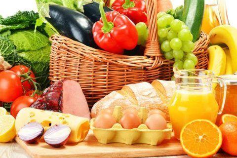Главные принципы правильного питания представлены в табличке