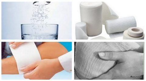 Компресс с солью быстро поможет снять боль.