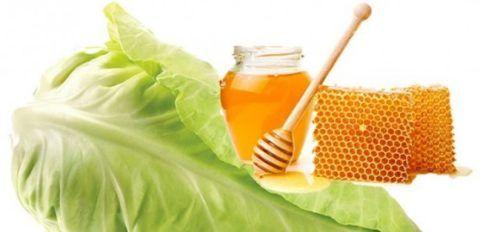 Компрессы из капусты и меда помогут при боли в плече.