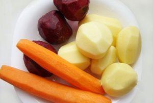 Морковь, картофель и свекла