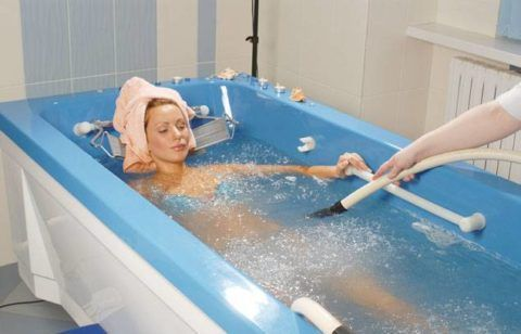 На фото радоновые ванны