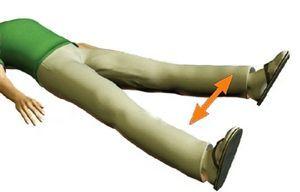 Отведение ног лёжа