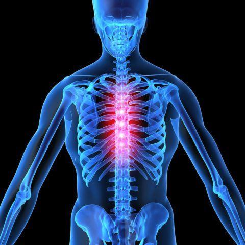 Почему происходит жжение в грудном отделе позвоночника?