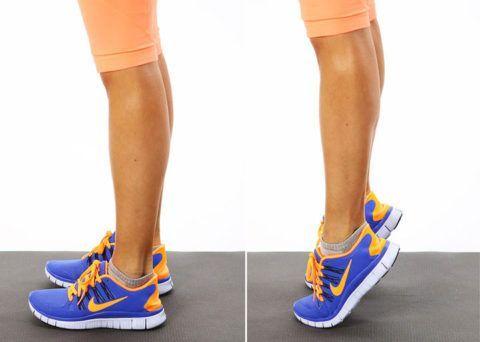 Подъемы на носках