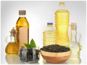 Подсолнечное и оливковое масла