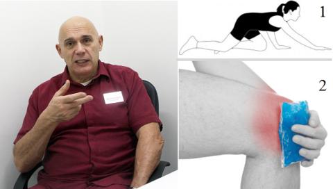 При артритах в коленях Бубновский рекомендует не греть их, а после ходьбы на них прикладывать холод.