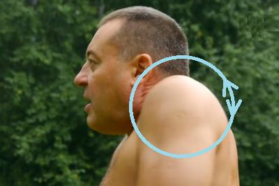 Синхронные круги плечами