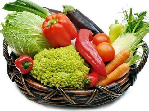 В диете должны превалировать овощи