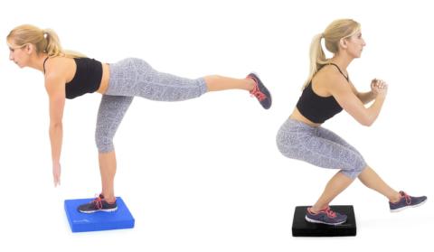 Важная составляющая ЛФК для колена – упражнения на балансировочной подушке
