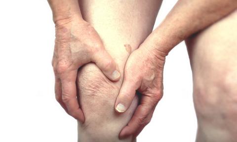 Вид колена при воспалении жировой ткани крыловидных складок