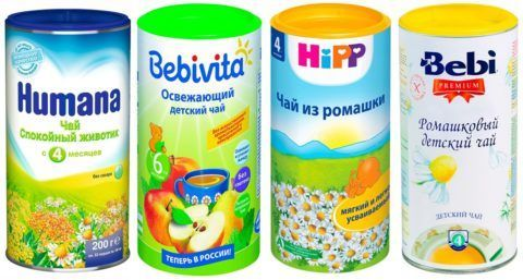 Виды детских чайных напитков с противовоспалительным действием.