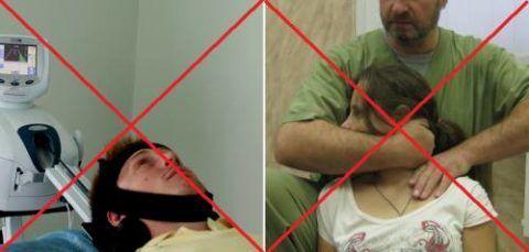 Запрещённые манипуляции при грыжах шейного отдела